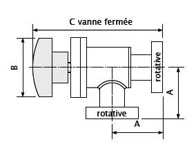 vanne angle manuelle CF